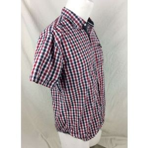 MBX Denim Wear Shirts - MBX Denim Wear Plaid Shirt Short Sleeve Cotton